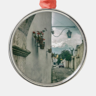 Colonial Street of Arequipa City Peru Metal Ornament