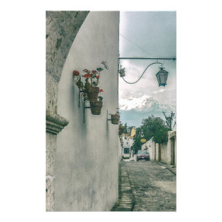 Colonial Street of Arequipa City Peru Stationery