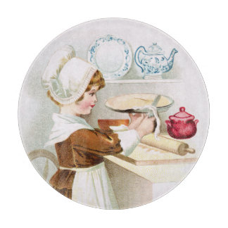 Colonial Sweetheart Making a Pie Cutting Board