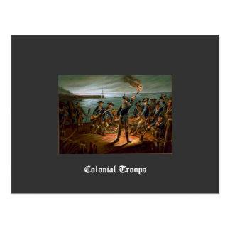 Colonial Troops Postcard