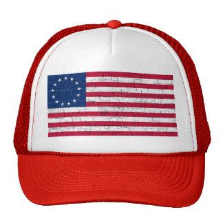 COLONIAL USA FLAG CAP TRUCKER HAT