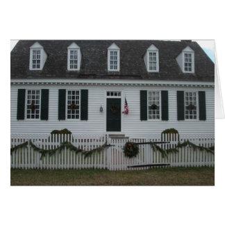 Colonial Williamsburg 18th century building Card