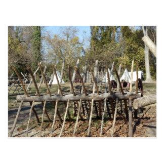 Colonial Williamsburg Campsite Postcard