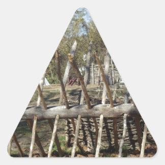Colonial Williamsburg Campsite Triangle Stickers