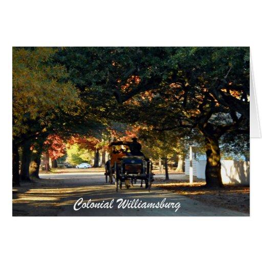Colonial Williamsburg Card