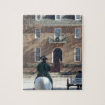 Colonial Williamsburg Man on Horse Jigsaw Puzzles