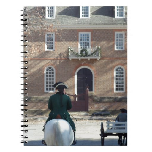 Colonial Williamsburg Man on Horse Note Books