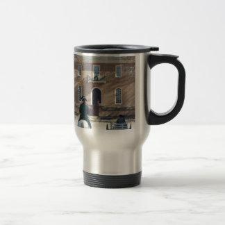 Colonial Williamsburg Man on Horse Travel Mug