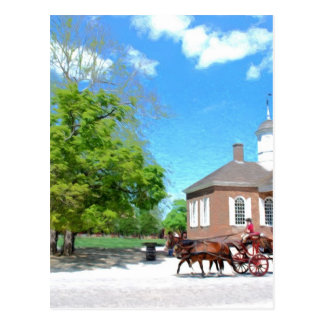 Colonial Williamsburg Postcard