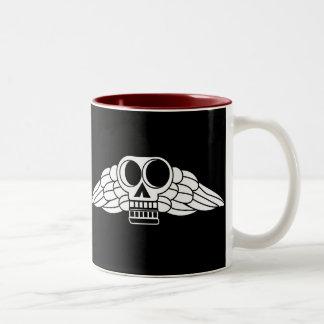 Colonial Winged Skull Coffee Mugs