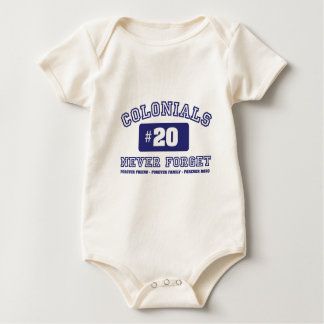 COLONIALS #20 NEVER FORGET BABY BODYSUIT