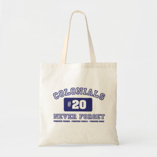 COLONIALS #20 NEVER FORGET TOTE BAG