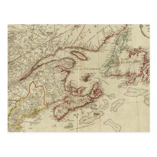 Colonias británicas Norteamérica, Nueva Inglaterra Postal
