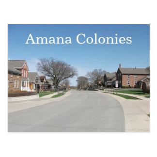 Colonias de Amana, Amana, Iowa Tarjeta Postal