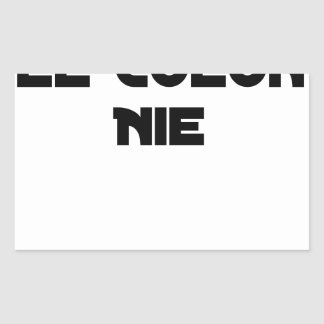COLONIES, the COLONIST DENIES - Word games Rectangular Sticker