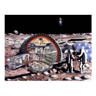 Colonization of the Moon Post Cards