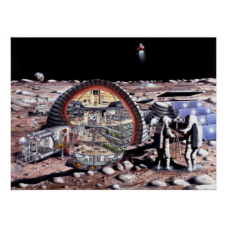Colonization of the Moon Poster