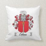 Colonna Family Crest Throw Pillows