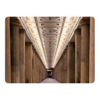Colonnade Alte Nationalgalerie in Berlin Germany Card