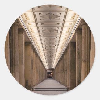 Colonnade Alte Nationalgalerie in Berlin Germany Classic Round Sticker