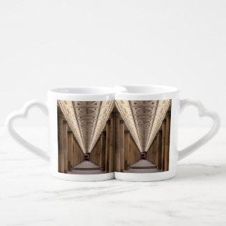 Colonnade Alte Nationalgalerie in Berlin Germany Coffee Mug Set