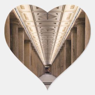 Colonnade Alte Nationalgalerie in Berlin Germany Heart Sticker