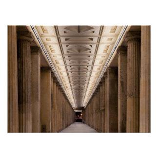 Colonnade Alte Nationalgalerie in Berlin Germany Poster