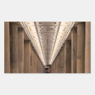 Colonnade Alte Nationalgalerie in Berlin Germany Rectangular Sticker