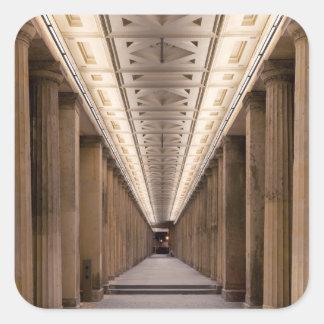 Colonnade Alte Nationalgalerie in Berlin Germany Square Sticker