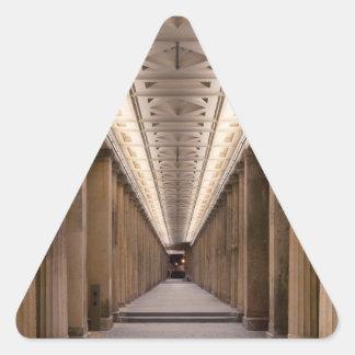 Colonnade Alte Nationalgalerie in Berlin Germany Triangle Sticker