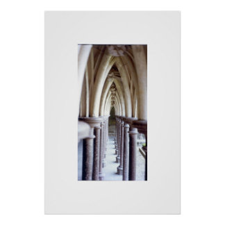 colonnade at Mont St. Michel Poster