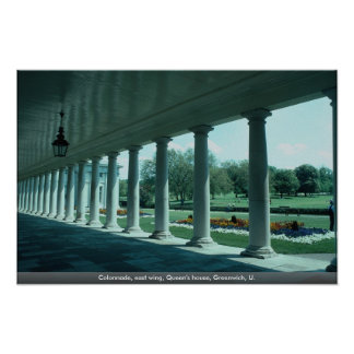 Colonnade, east wing, Queen's house, Greenwich, U. Print