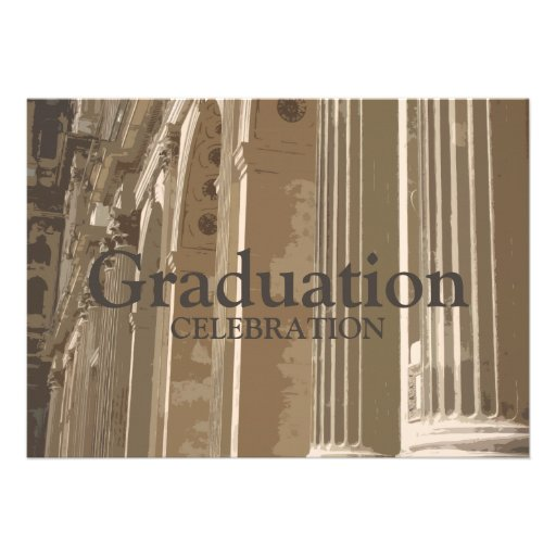 Colonnade Graduation Invitation