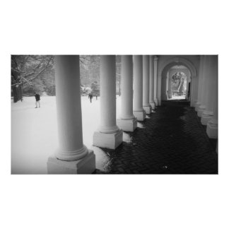 Colonnade in the Snow Poster