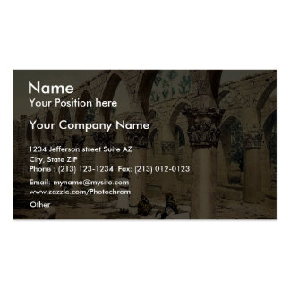 Colonnade of the ancient mosque, Baalbek, Holy Lan Business Card Templates