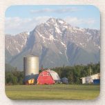 Colony Barn w/Pioneer Peak Coaster Set