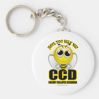 Colony Collapse Disorder Basic Round Button Keychain