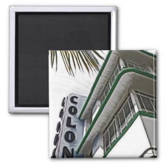 Colony Hotel, Miami 2 Inch Square Magnet