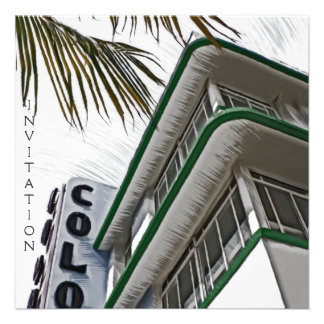 Colony Hotel, Miami, FL Personalized Invites