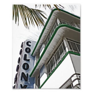 Colony Hotel, Miami, FL Photo Print