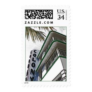 Colony Hotel, Miami, FL. Postage Stamp