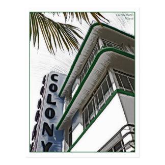 Colony Hotel, Miami, FL. Postcards