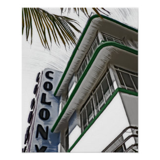 Colony Hotel, Miami, FL Poster