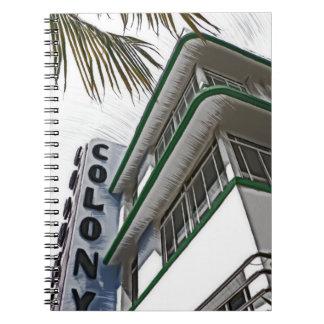 Colony Hotel, Miami, FL Spiral Notebook