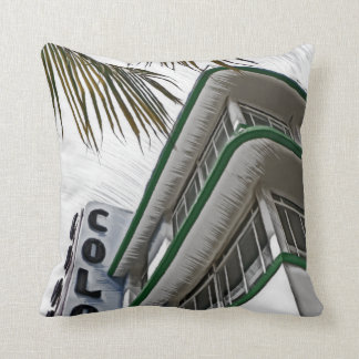 Colony Hotel, Miami, FL Throw Pillow