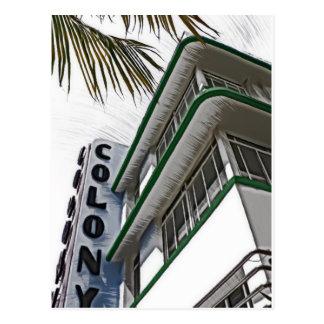 Colony Hotel, Miami Postcard