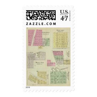 Colony, Kincade, Mont Ida, and Westphalia, Kansas Postage