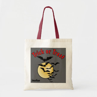 Colony of Bats and Full Moon Trick or Treat Candy Tote Bag