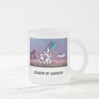 Colony of Gamers Frosted Glass Coffee Mug