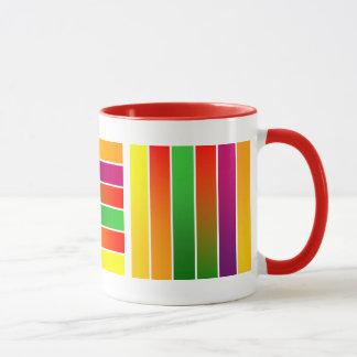 coloorful stripes mug